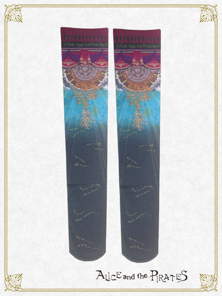 P13SC809 The Destiny Arcana and the Stars will lead you, FORTUNE TELLER over knee socks