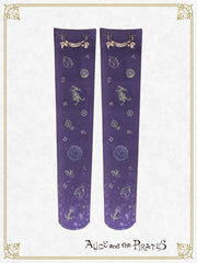 [RESERVATION] P13SC823 Starry Sky Lantern and the Treasure Island in My Dreams Over Knee Socks