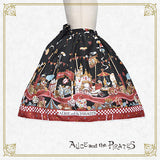 P13SK505 Alice Wonder Car Chase Skirt