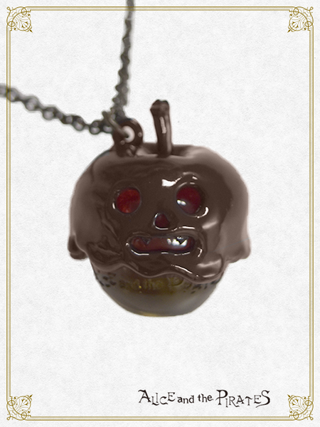 P14AC035 Halloween Apple Necklace
