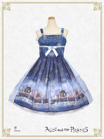 P14OJ223 Snow Globe Train Jumperskirt I