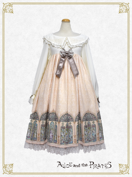 P14OP309 Gloria~Beautiful Glassy Saint Mary~Therese Onepiece Dress Set