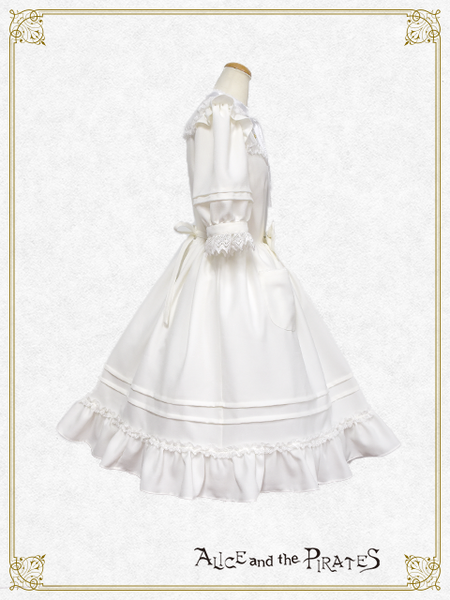 P14OP323 Lily of the Valley Appliquéd Onepiece Dress