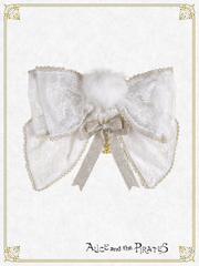 P14OT030 Bunny Girl Tail Ribbon Brooch