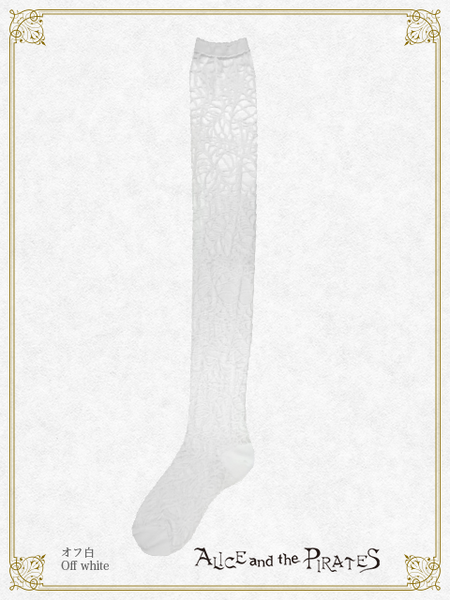 P14SC824 A/P Spiderweb See-through Over Knee Socks