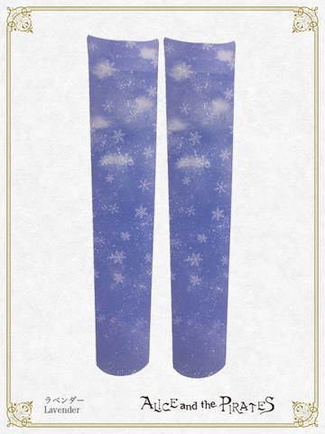 P14SC825 Snow Globe Train Over Knee Socks
