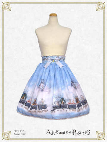 P14SK520 Snow Globe Train Skirt