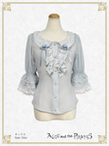 P15BL411 Anastasia Butterfly Collar Short Sleeve Blouse