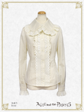 P15BL425 Pin-Tucked Collar Blouse