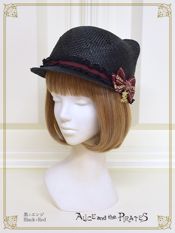 P15HA928 Kitten's Ear Straw Hat