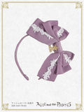 P15HA940 A/P Rose Lace Grosgrain Ribbon Headbow