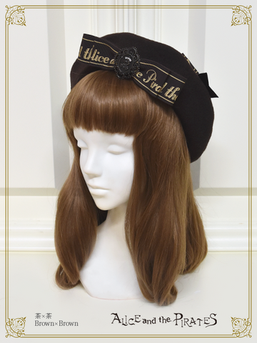 P15HA954 Logo Ribbon Beret