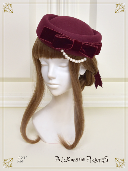 P15HA955 Pearl Ribbon Toque Hat