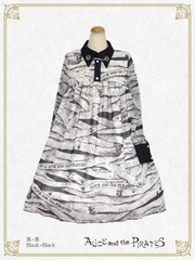 P15OP312-1 Round'n'Round Bandage and Meow Meow Hide and Seek Onepiece Dress【LIMITED】