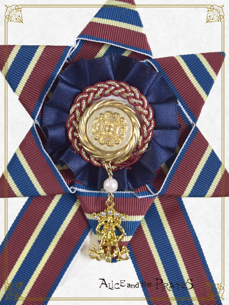 P15OT004 Regimental Frill Ribbon Rosette