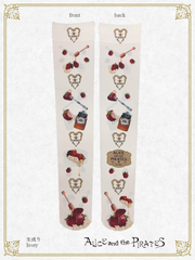 [RESERVATION] P15SC801 Honey Bee Berry Over Knee Socks