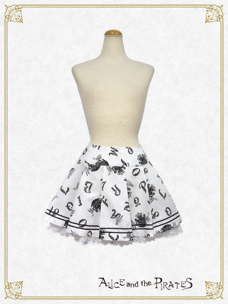 P15SK509 Alice and the Alphabet Labyrinth Skirt