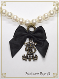 P16AC028 A/P Pearl Ribbon Necklace