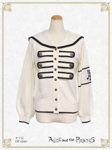 P16CD106 Sailor Collar Napoleon Cardigan