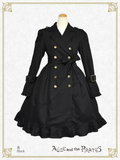 P16CO317 Gladiolus Emblem Trench Coat