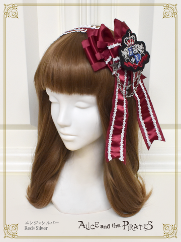 P16HA916 Tricolore Sky March Satin Ribbon Headbow