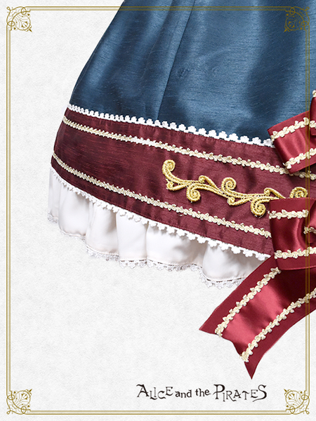 P16JS209 Tricolore Sky March Jumperskirt