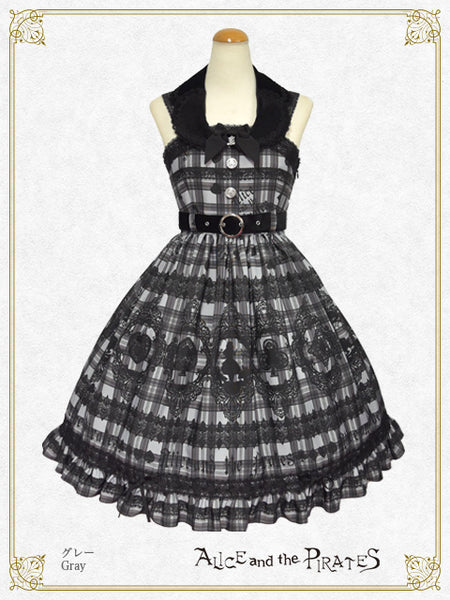 P16OJ211 Alice's Cards Lace Tartan Check Jumperskirt Ⅰ