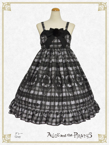 P16OJ212 Alice's Cards Lace Tartan Check Jumperskirt Ⅱ