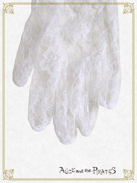 P16OT001 St.Lily Short Lace Gloves