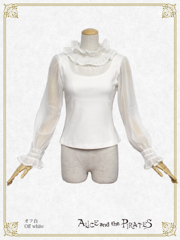 P16PO703 Dot Tulle Conversion Pullover