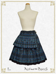 P16SK508 Alice's Cards Lace Tartan Check Skirt