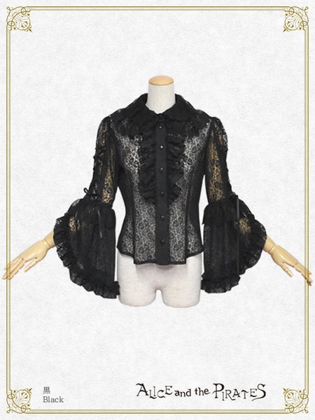 P17BL410 Rose Lace Princess Sleeve Blouse