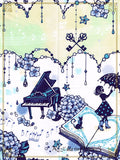 P12SK511 Faint Love In The Water Color Sky And The Melody Of The Rain Skirt