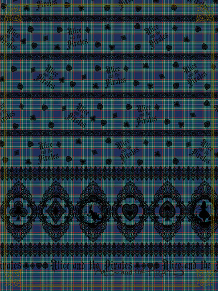 P16OH907 Alice's Cards Lace Tartan Check Ribbon Headbow