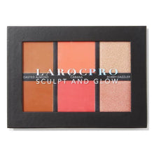 Load image into Gallery viewer, LAROC-LaRoc PRO Sculpt and Glow Face Palette-Beauty Gold