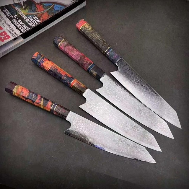 Faca do Chefe Original Damascus Steel