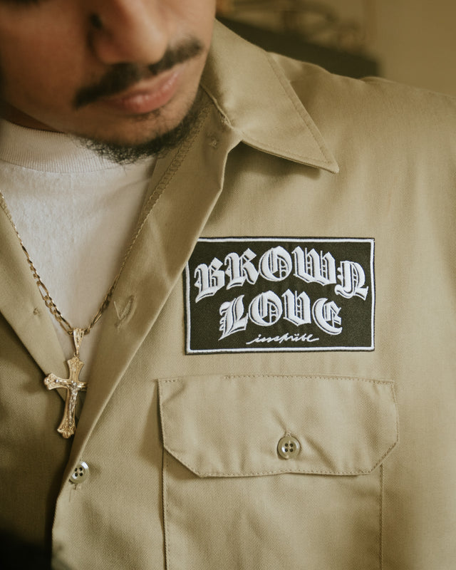 BROWN LOVE WORK SHIRT