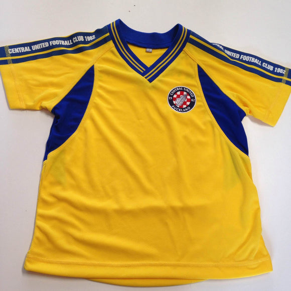Central United FC Youth Playing Shirt Yellow/Blue - Playmaker Sports