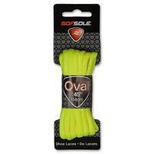 "SofSole Kids Oval Sport Shoe Laces 45"" Neon Yellow - Playmaker Sports"