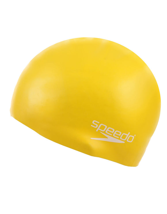 Speedo Junior Moulded Silicone Cap Yellow - Playmaker Sports
