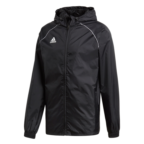 Adidas Core 18 Rain Jacket - Adult - Black / White