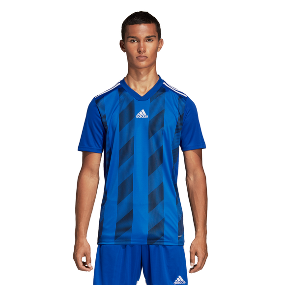Adidas Striped 19 Jersey - Adult - Bold Blue / White
