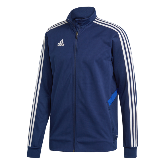 Adidas Tiro 19 Training Jacket - Adult - Dark Blue / Bold Blue / White
