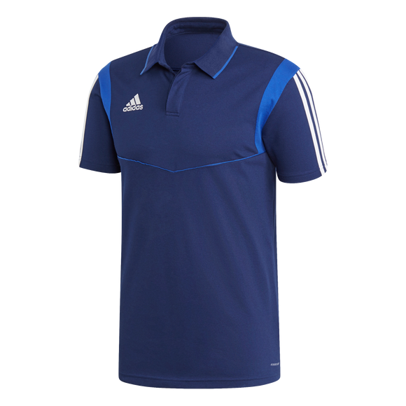 Adidas Tiro 19 Co Polo - Dark Blue / Bold Blue / White - Adult