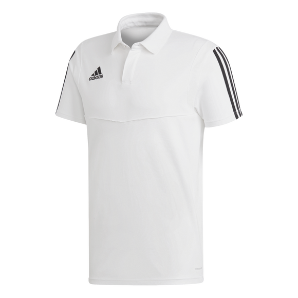 Adidas Tiro 19 Co Polo - White / Black - Adult