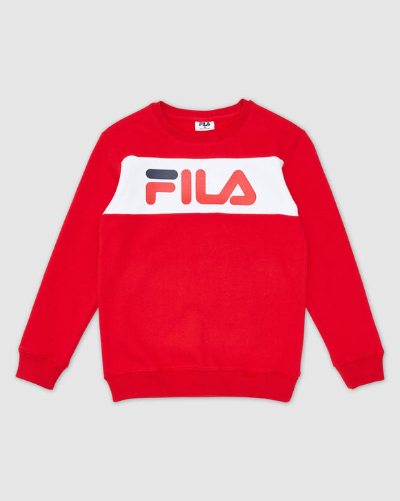 FILA Kids Unisex Venice Crew Top - Red