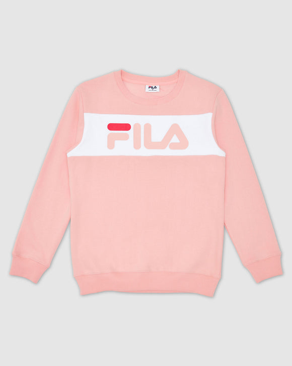 FILA Kids Unisex Venice Crew Top - Mellow Rose