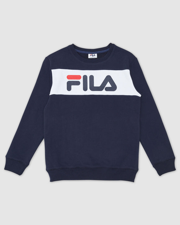 FILA Kids Unisex Venice Crew Top - New Navy