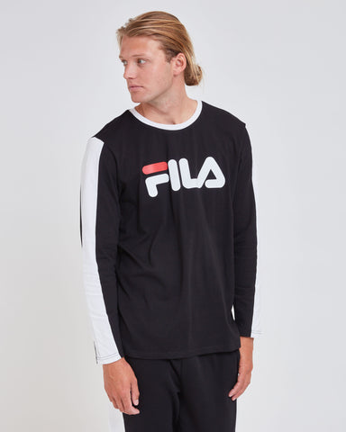 FILA Milan Long Sleeve Tee - Unisex - Black