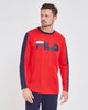 FILA Milan Long Sleeve Tee - Unisex - Red